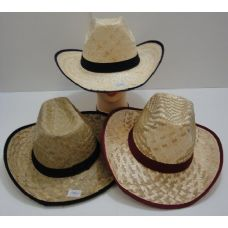 24 Units of Straw Cowboy Hat - Cowboy & Boonie Hat