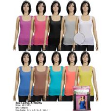 216 Units of 3 in a Pack Ladies A-Shirts Tank Top - Womens Camisoles / Tank Tops