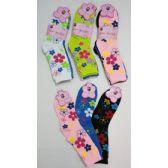 120 Units of Ladies Crew Socks 9-11 [Lg Daisies]
