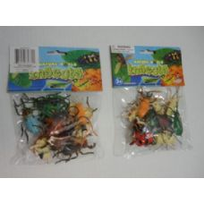 144 Units of 12pc Plastic Bugs - Animals & Reptiles