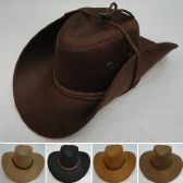 48 Units of Suede-Like Cowboy Hat [Rope Hat Band] - Cowboy & Boonie Hat