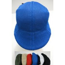 144 Units of Summer Mesh Golf Hats-Assorted Colors - Cowboy & Boonie Hat