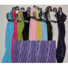 144 Units of Mesh Scarf with Rhinestones - Womens Fashion Scarves