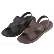 36 Units of Mans Black And Brown Sandal