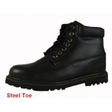 "12 Units of Men's Genuine Leather Boots--6"" Steel Toe - Mens Work Boots"