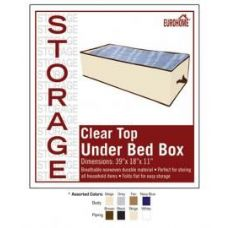 """36 Units of 39"""" x 18"""" x 11"""" CLEAR TOP UNDER BED BOX -4 ASSORTED COLORS - Storage Holders and Organizers"""