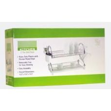 4 Units of 2 Tier Chrome Kitchen Dish Rack - Dish Drying Racks