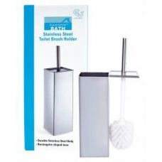 12 Units of Stainless Steel Square Toilet Brush Holder - Toilet Brush