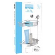 12 Units of 2 Tier Chrome Corner Caddy - Bathroom Accessories