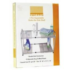 """6 Units of 2 Tier Expandable Under The Sink Shelf - 18""""-30"""" x 11.5"""" x 15"""" - Kitchen Gadgets & Tools"""