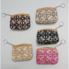"""120 Units of 4.75""""x3.5"""" Zippered Coin Purse [Sparkle G] - Leather Purses and Handbags"""