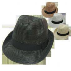 72 Units of Fedora Hat With Bow Ribbon - Fedoras, Driver Caps & Visor
