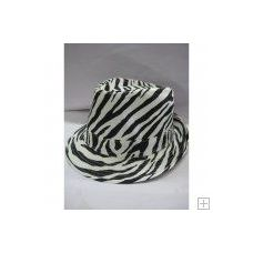 36 Units of Zebra Print Fedora Hat - Fedoras, Driver Caps & Visor