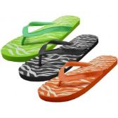 48 Units of Ladies Aimal Print Great Quality Flip Flops