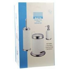 4 Units of 3 Piece Stainless Steel Bathroom Set - Bathroom Accessories