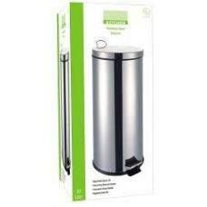 2 Units of 30 Liter Stainless Steel Step can With Plastic Inner Hygienic Bin - Waste Basket