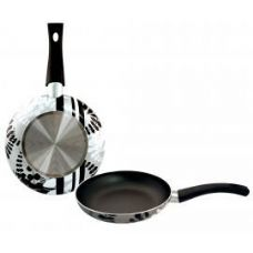 8 Units of 11inch Designer Fry Pan - Silver Leaf - Pots & Pans