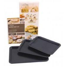 12 Units of 3 Piece Baking Sheet Set - Baking Supplies