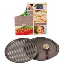 12 Units of 12 Slice Pizza Crisping Pan Set With Cutter - Pots & Pans
