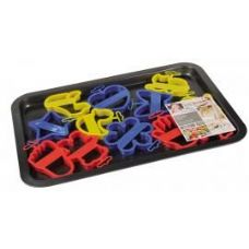 24 Units of Baking Tray With Cookie Cutters - Pots & Pans