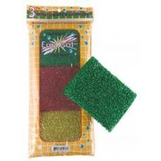 96 Units of 3 Pk Non scratch sponges - Cleaning