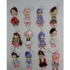 "72 Units of 4"" Baby Doll Key Chain - Key Chains"