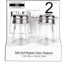 48 Units of 2 Piece Glass Salt And Pepper Shakers - Kitchen Gadgets & Tools