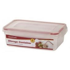 24 Units of 6 Piece Plastic Assorted Container WIth Click And Lock Lids - Food Storage Bags & Containers