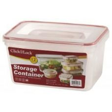 6 Units of 12 Piece Assorted Plastic Container with Click And Lock Lids - Food Storage Bags & Containers