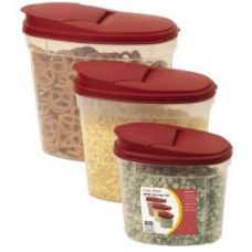 6 Units of 6 Pc. Click & Lock Plastic Storage Set w/Lids - Food Storage Bags & Containers