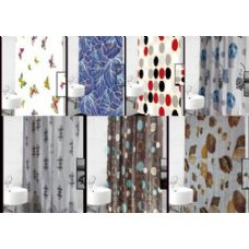 72 Units of Polyester Deluxe Shower Curtain 72x72 - Shower Curtain
