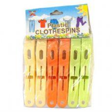 96 Units of Cloth Pin Plastic 6PK - Clothes Pins