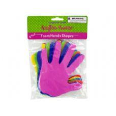 72 Units of Foam Craft Hand Shapes 8 Pack - Foam Items