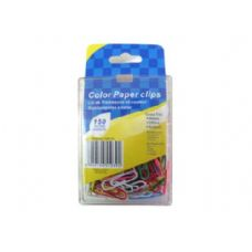 72 Units of Colored paper clips, pack of 150 - CLIPS/FASTENERS