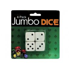72 Units of Jumbo dice, pack of 4 - Playing Cards, Dice & Poker