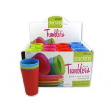 72 Units of Plastic stacking tumblers - Plastic Drinkware