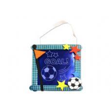288 Units of Soccer Banner Craft Kit