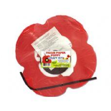 288 Units of Tissue Paper Poppy Craft Kit - Gift Wrap