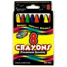 48 Units of Crayons  8 pack - Boxed - Asst. Colors - Chalk,Chalkboards,Crayons