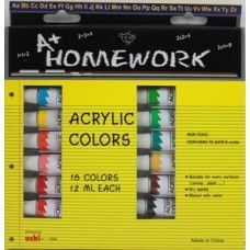 24 Units of Acrylic Paints- asst. colors- 18 pack - 12 ml each tbe - Paint and Supplies