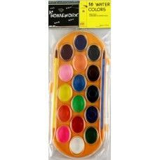48 Units of Water Color Paint Set- 16 colors+2 brushes - Paint and Supplies
