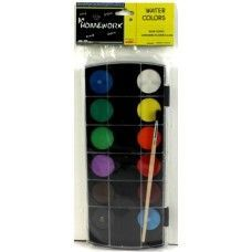 48 Units of Water Color Paint Set- 12 colors+Brush - Paint and Supplies