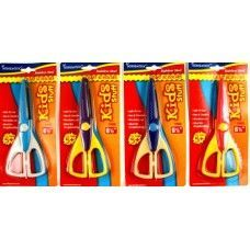 "48 Units of Scissors- Craft- 6.5""- Zig Zag Cut- Carded Asst. Colors - Scissors"
