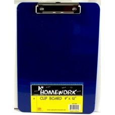 "96 Units of Clipboard- Plastic 9""x 12.5"" Asst Colors - Clipboards and Binders"