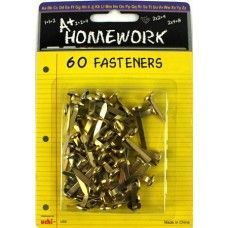 96 Units of Fasteners - 60 pack - Asst. sizes - Carded - Fasteners