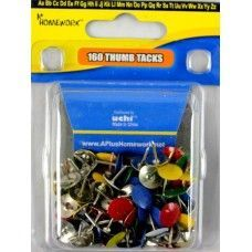 48 Units of Thumb Tacks -100 count - asst colors-Clamshel package. - Push Pins and Tacks
