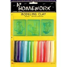 48 Units of Modeling Clay and Molds Set 12 Assorted Clay Sticks - Clay & Play Dough