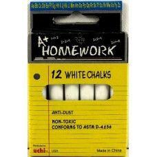 "96 Units of Chalk - White - 12pk - 3"" sticks - Boxed - Chalk,Chalkboards,Crayons"