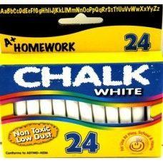 "96 Units of Chalk - White - 24 pk - 3"" sticks - Boxed - Chalk,Chalkboards,Crayons"
