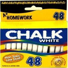 "96 Units of Chalk - White - 48 pk - 3"" sticks - Boxed - Chalk,Chalkboards,Crayons"